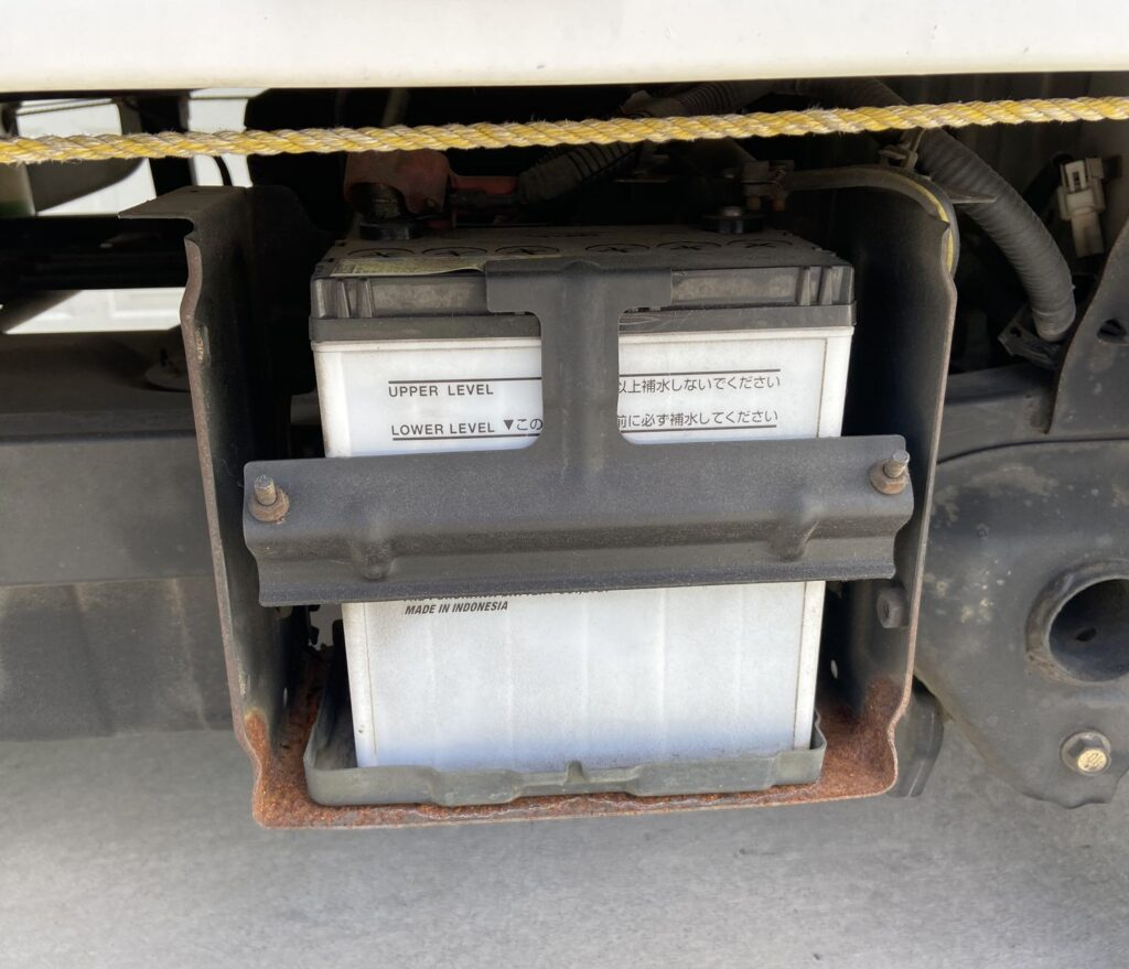 Battery box without coverr