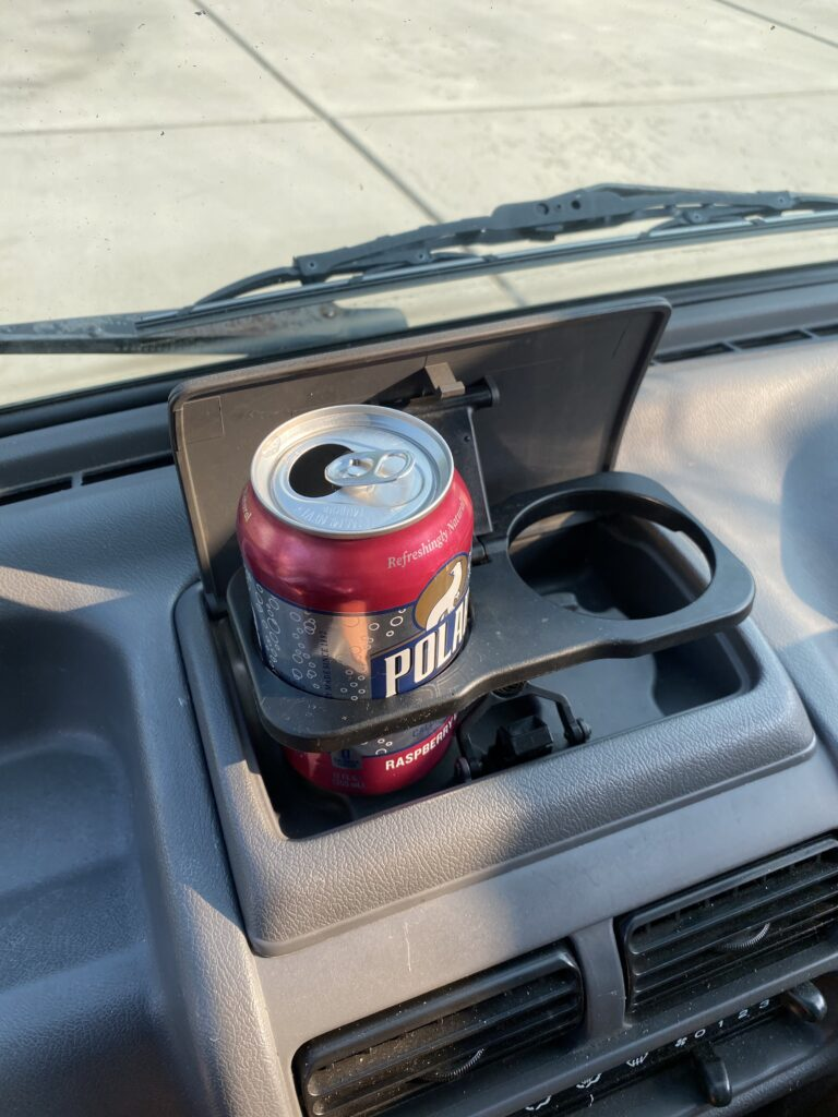 cup holder in use
